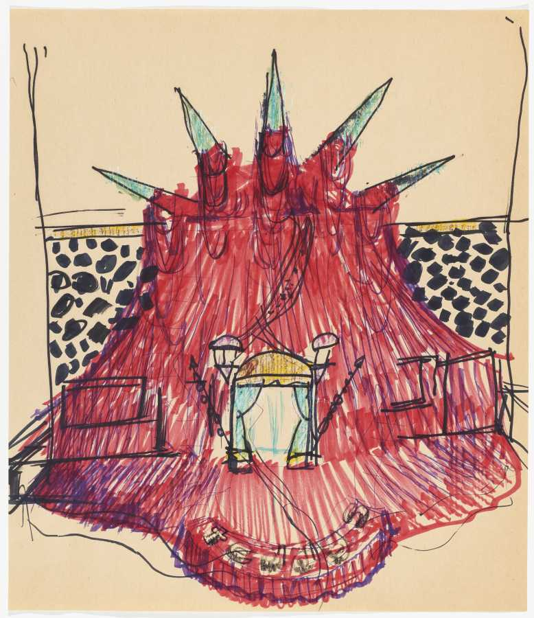 Miralda, El Internacional Tapas Bar & Restaurant. Crown, 1984. Colored marker on paper. 18 x 15 5/8 in. (46 x 40 cm). Courtesy: HFNY