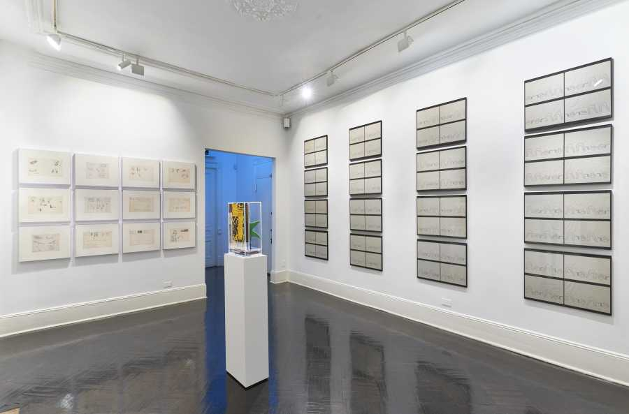"Installation view from ""Miralda: Unpacking the Archive"", at Henrique Faria New York, 2019. Courtesy of the artist and the gallery"