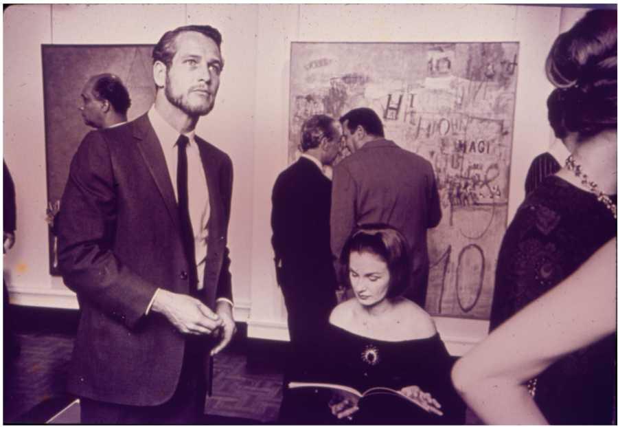 Paul Newman y Joanne Woodward en la inauguración de Magnet New York, (1964). [Diapositiva]. Archivo Bonino, Fototeca Espigas. Colección Centro de Estudios Espigas – Fundación Espigas