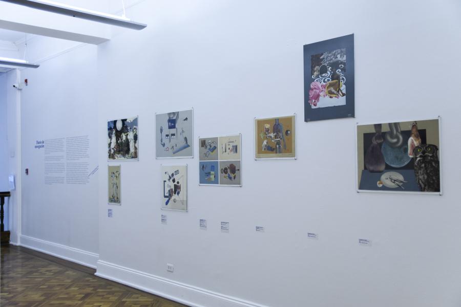 """Vista de la serie Espectros en la exposición """"Ancla 637. Con Hugo Rivera-Scott y otros"""", Museo de la Solidaridad Salvador Allende, 2019. Cortesía MSSA"""