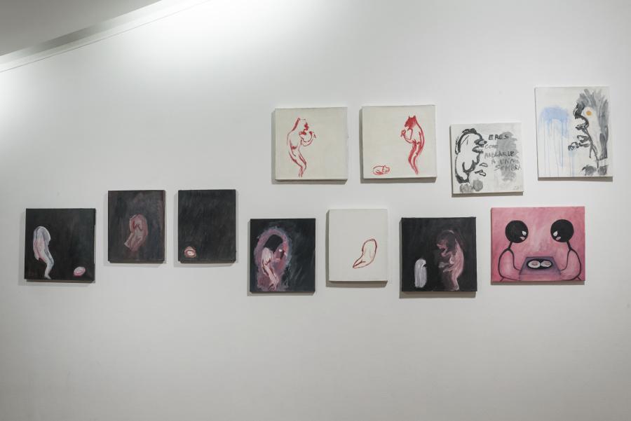 """Vista de la exposición """"Diálogos"""", de Julia San Martín, en el Museo de Artes Visuales (MAVI), Santiago de Chile, 2019. Foto: Jorge Brantmayer"""