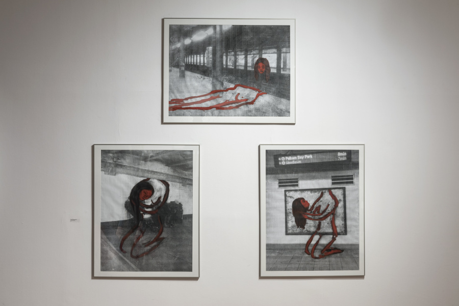 """Julia San Martín, De la serie """"I Lost my Mind"""", 2018-2019, óleo sobre tela, 40 x 50 cm. Cortesía de la artista. Foto: Jorge Brantmayer"""