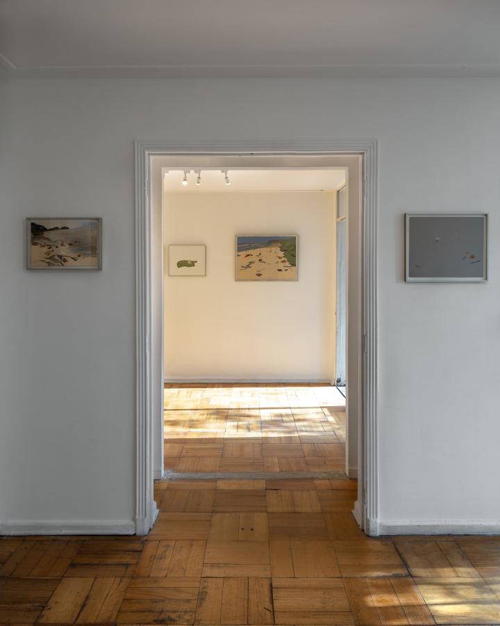 """Vista de la exposición """"Lo Abierto"""", de Sofía del Pedregal, en Espacio Andrea Brunson, Santiago de Chile, 2019. Foto: Felipe Ugalde"""