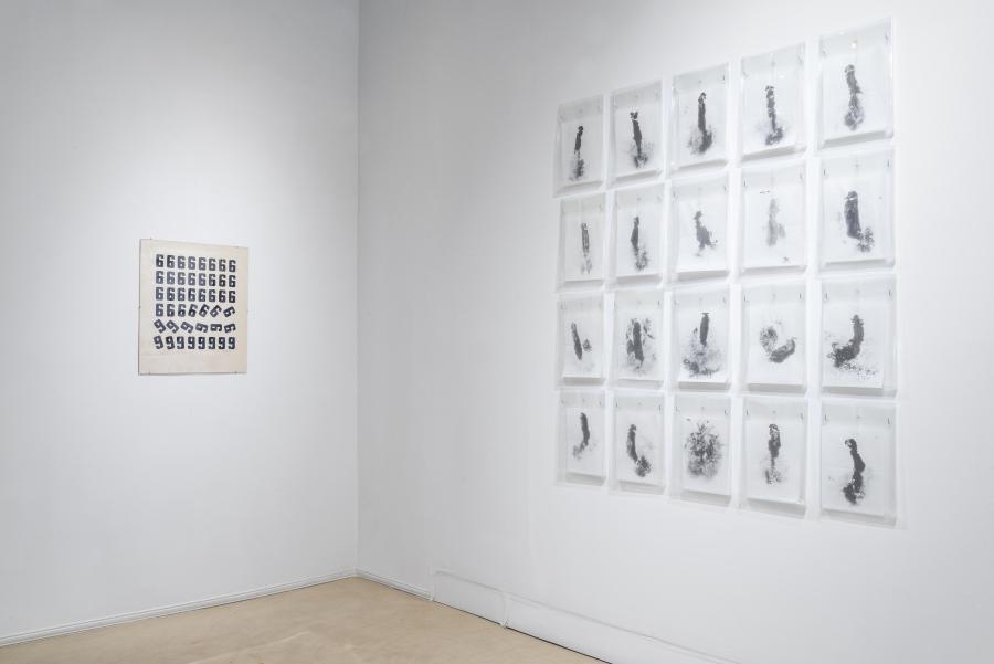 """Osvaldo Salerno. Vista de la exposición """"Asunción"""", en Herlitzka + Faria, Buenos Aires, 2019. Cortesía de la galería"""