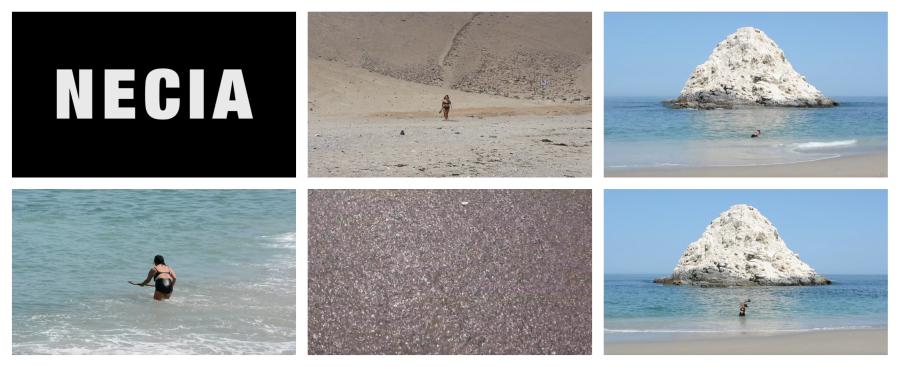 """Juana Guerrero, Necia (stills de video), parte de la exposición """"Marea: Arte y espacio marítimo"""", en Centex, Valparaíso, Chile, 2019. Cortesía de la artista"""