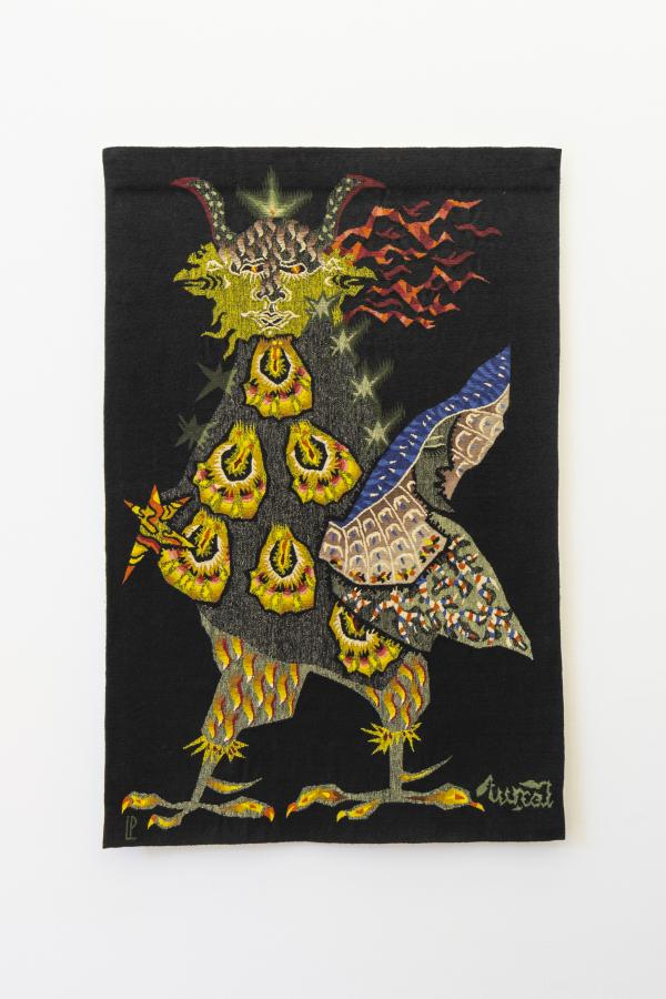 Janus, de Jean Lurçat, tapiz, 150 x 100 cm. Foto: Benjamín Matte / MSSA