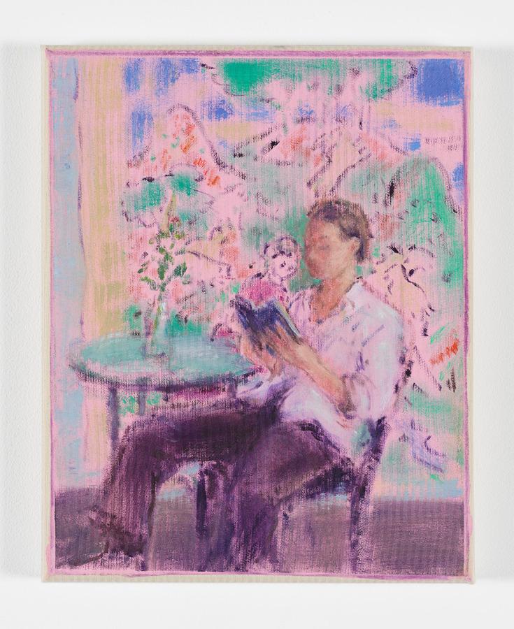 Cosima Zu Knyphausen, Dikotomier, 2019, pintura vinílica y óleo sobre algodón. Cortesía: Revolver, Lima