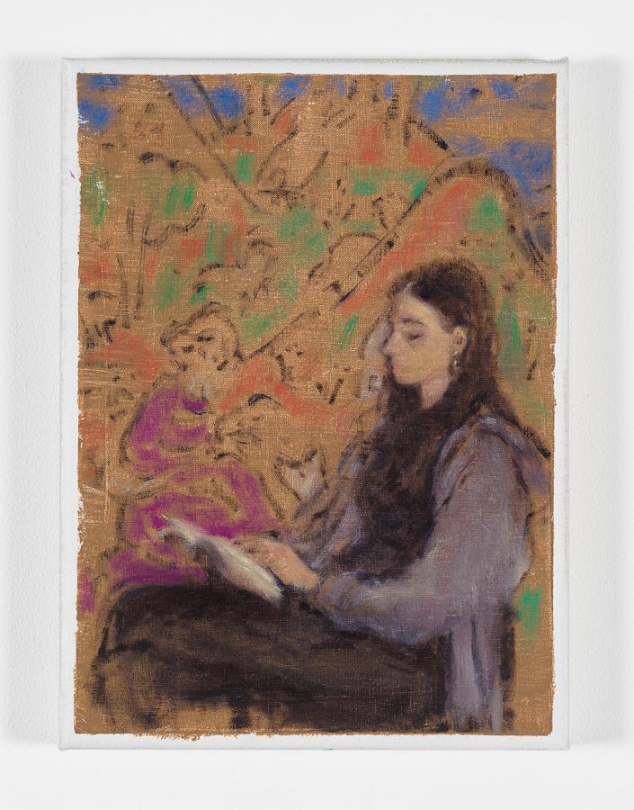 Cosima Zu Knyphausen, Ruhm, 2019, óleo sobre lino, 30 x 22 cm. Cortesía: Revolver, Lima