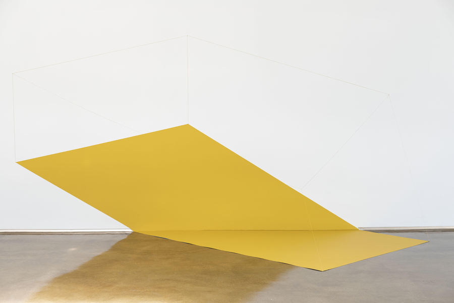 Lydia Okumura, Untitled, 1980, acrylic paint, string and aluminum, 73 ½ x 142 x 40 in. (Dimensions Variable). Edition ¼ + II AP. Courtesy: Piero Atchugarry Gallery, Miami