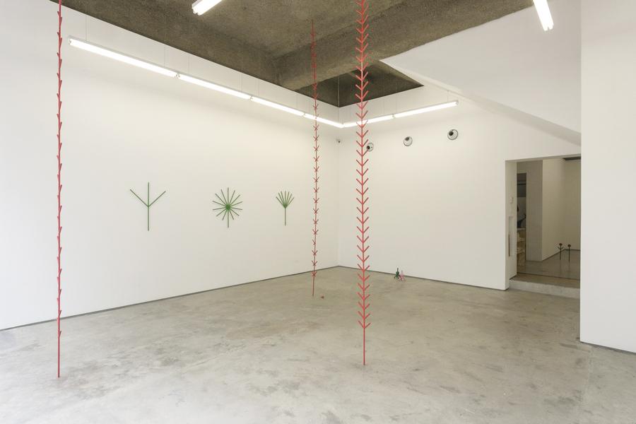 """Vista de la exposición """"Manoguayabo"""", de Engel Leonardo, en DiabloRosso, Panamá, 2019. Foto cortesía de la galería"""