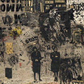 Alberto Greco, Sin título, 1963/1964, tinta sobre papel montado en hardboard, 70 x 100 cm. Cortesía: Del Infinito
