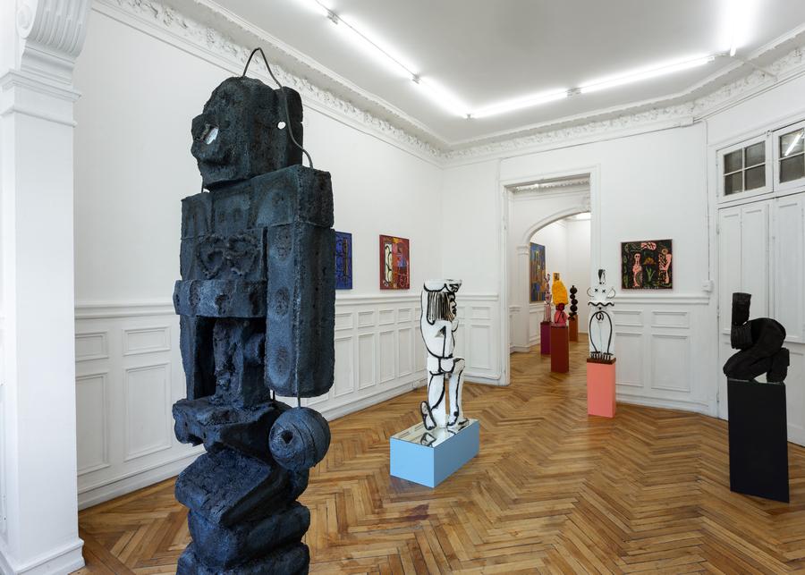 "Vista de la exposición ""REM"", de Martín Daiber, en The Intuitive Machine (TIM), Santiago de Chile, 2019. Foto: Felipe Ugalde"
