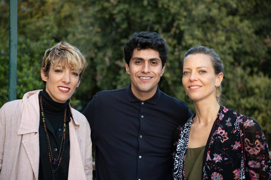 Elisa Ibáñez, Alfonso Díaz y Constanza Güell, directores de Antenna