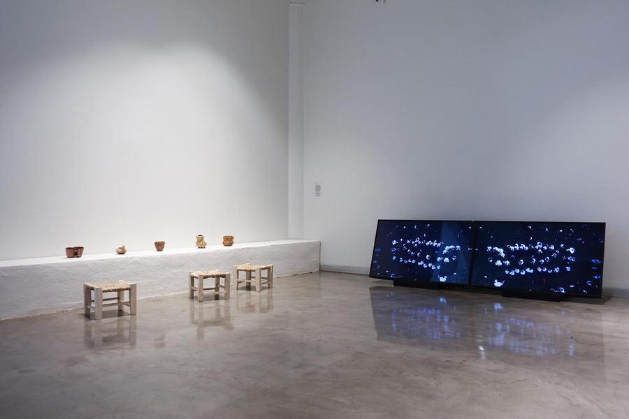 Minga del cielo oscuro (2019), un proyecto de Cecilia Vicuña en colaboración con artistas y científicos. Cortesía; Centro Cultural de España (CCE) en Santiago de Chile