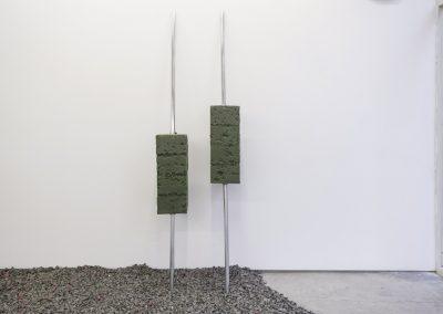 """Obra de Santiago Cancino en la exposición """"Pach Pan"""", DiabloRosso, Ciudad de Panamá, 2019. Foto cortesía de la galería"""