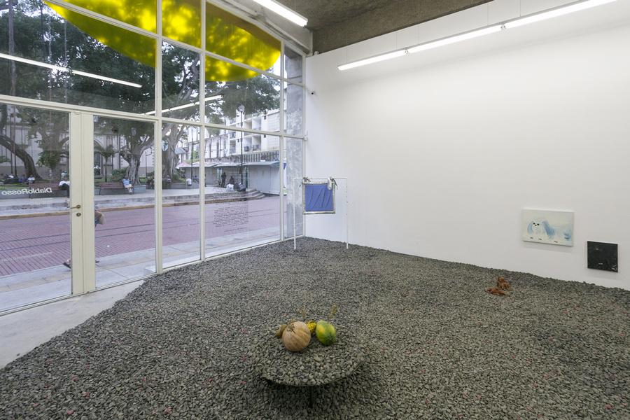 """Vista de la exposición """"Pach Pan"""", DiabloRosso, Ciudad de Panamá, 2019. Foto cortesía de la galería"""