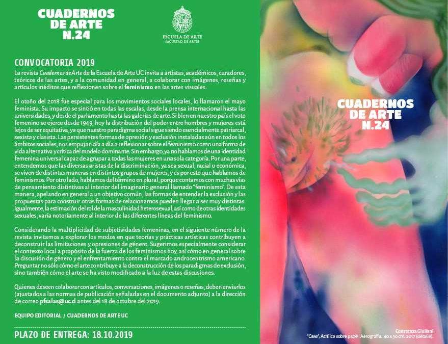 CONVOCATORIA: ARTÍCULOS PARA LA REVISTA CUADERNOS DE ARTE