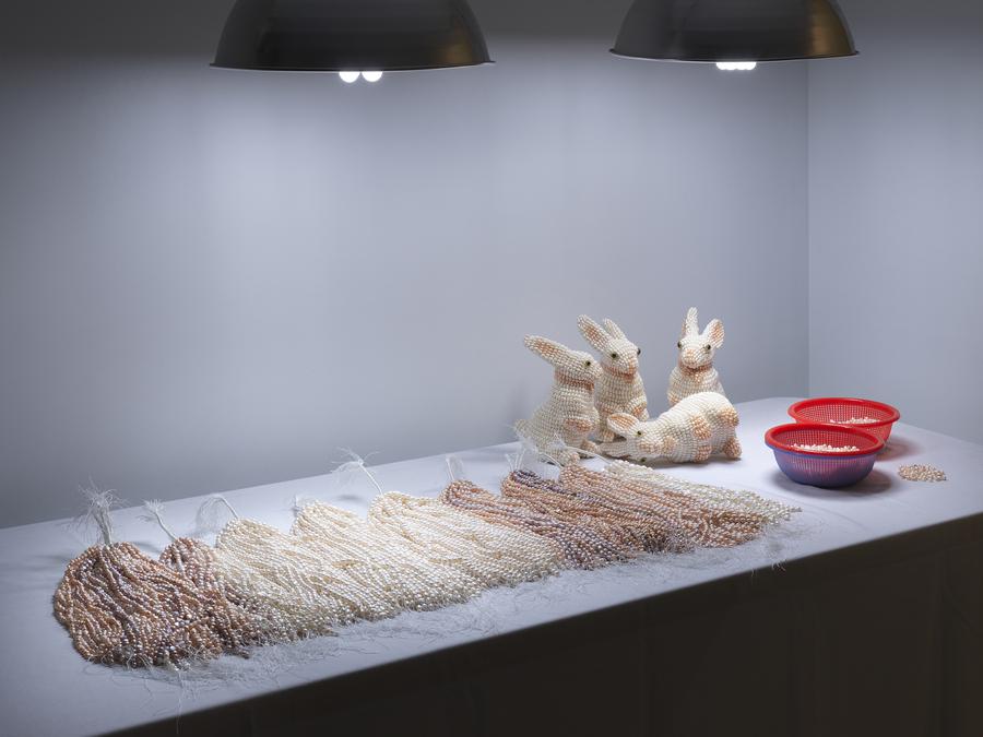 """Mika Rottenberg: Easypieces,"" 2019. Exhibition view: New Museum, New York. Photo: Dario Lasagni"