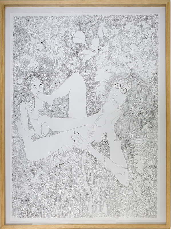 Cristina Tufiño, Progeny, 2019, ink on paper, 78 x 108 cm / 30.70 x 42.51 inches. Courtesy: Galería Agustina Ferreyra