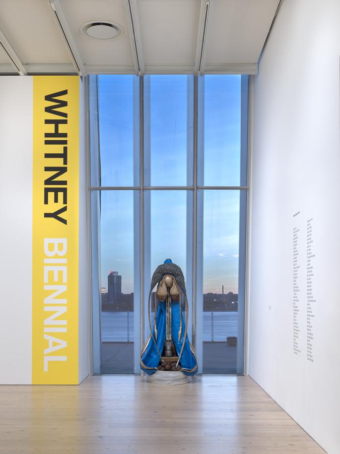Daniel Lind-Ramos, María María, 2019. Vista de la Bienal del Whitney, Nueva York, 2019. Foto: Ron Amstutz