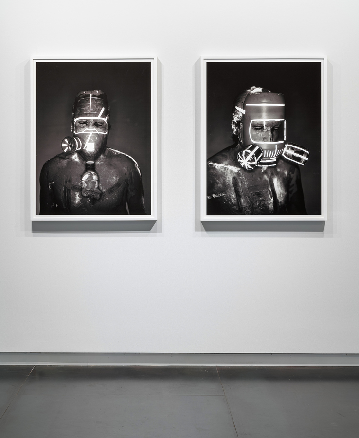 Rodrigo Valenzuela, Mask #3 and #2, 2018 archival pigment print mounted on Sintra, 43 x 33 inches. Edition of 3 plus 1 AP. Courtesy: Upfor