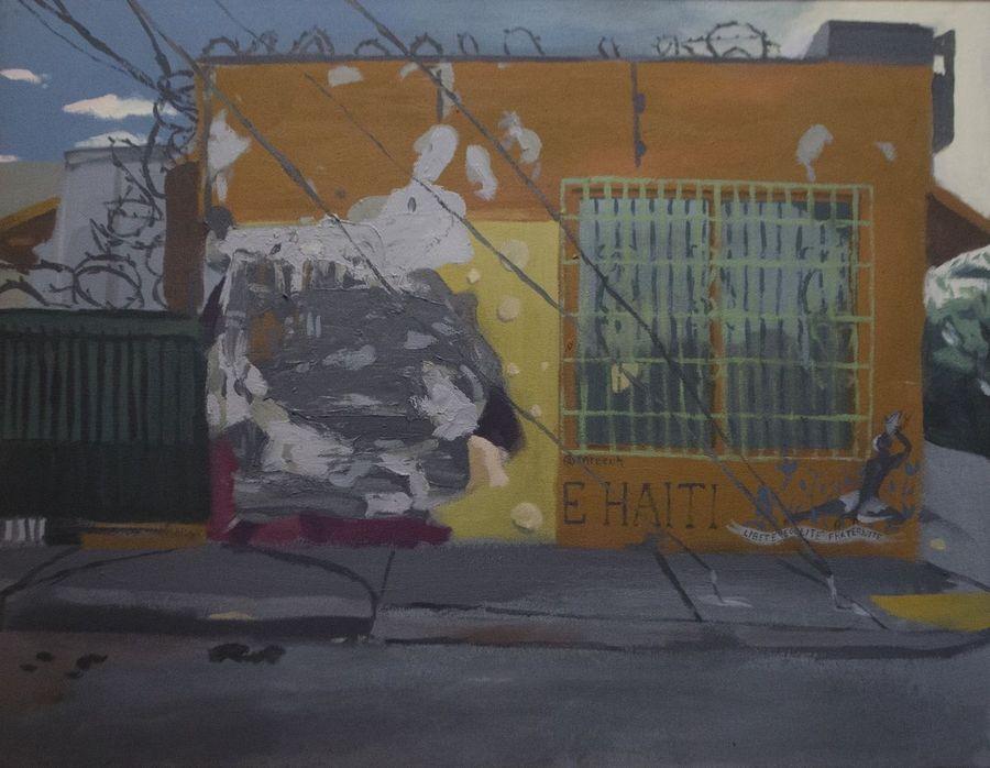 Eddie Arroyo, 5825 NE 2nd Ave., Miami, FL 33137, 2017, acrílico sobre tela, 71.1 × 91.4 cm. Cortesía del artista y Spinello Projects, Miami. Foto: Eddie Arroyo