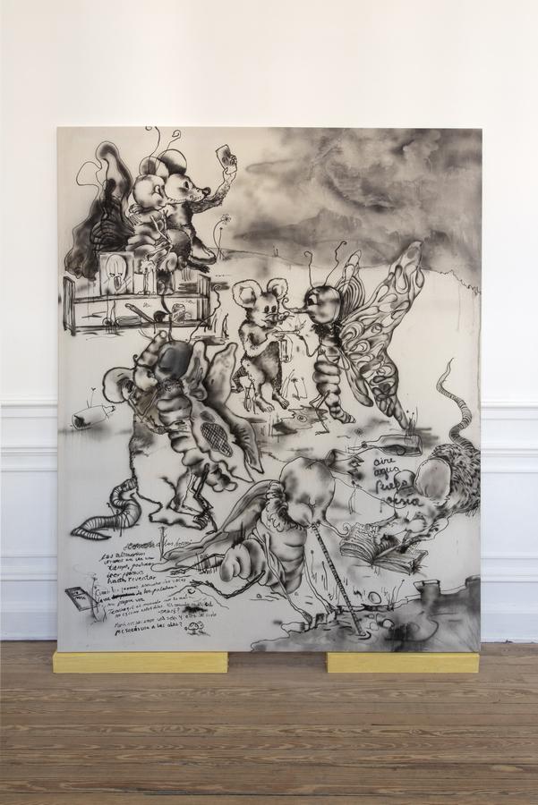 """Vista de la exposición """"En una isla pegada a la tierra cerca de todo"""", de Constanza Giuliani, en Piedras Galería, Buenos Aires, 2019. Cortesía de la artista y la galería"""
