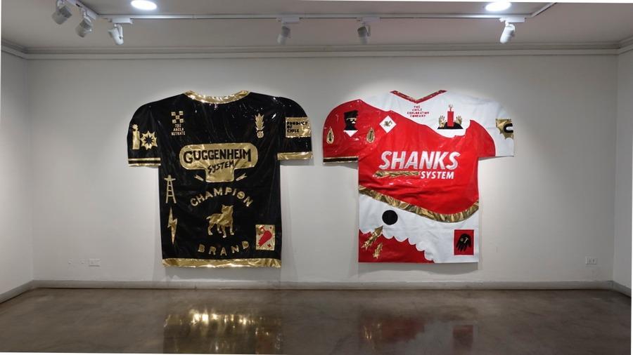 """Vista de la exposición """"Land of Champions"""", en el Centro Cultural de España (CCE) en Santiago, 2019. Cortesía: CCE"""