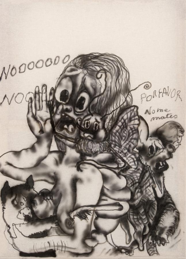 Constanza Giuliani, No me mates, 2019, acrílico sobre tela, 100 x 70 cm. Cortesía de la artista y Piedras Galería