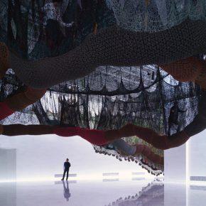 Obra de Ernesto Neto en el recién inaugurado Faena Arts Center