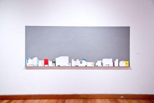 """Vista de la exposición """"Ya nada será como antes"""", de Grace Weinrib, Museo de Artes Visuales (MAVI), 2016. Cortesía de la artista y Fundación AMA"""