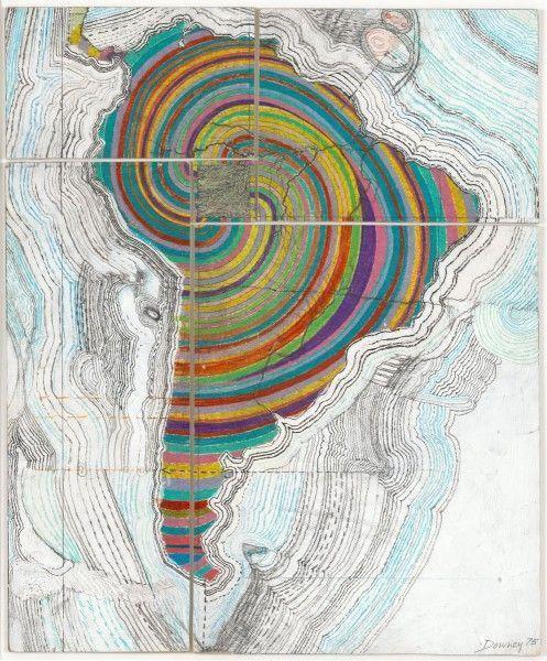 Juan Downey, Map of America, 1975. Cortesía del artista
