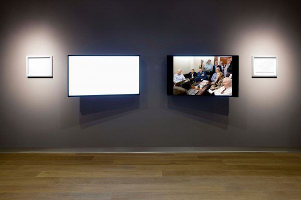 """SCAD Museum of Art.  Alfredo Jaar exhibit. photo by John McKinnon. On display for the first time in the U.S., Alfredo Jaar's """"May 1, 2011"""" installation presents a poetic, conceptual and socio-politically meditation on the power, and absence, of images."""