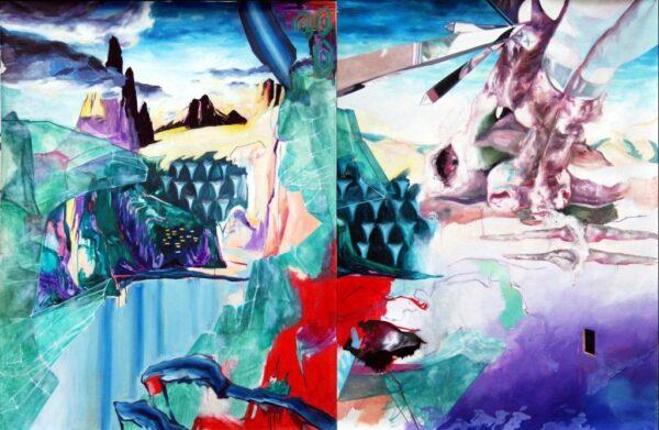 Bohtlingk-la-tierra-fue-una-vez-un-animal-gigante.-diptico-2007-oleo-sobre-tela-200-x-147cm-cada-uno-1024x667