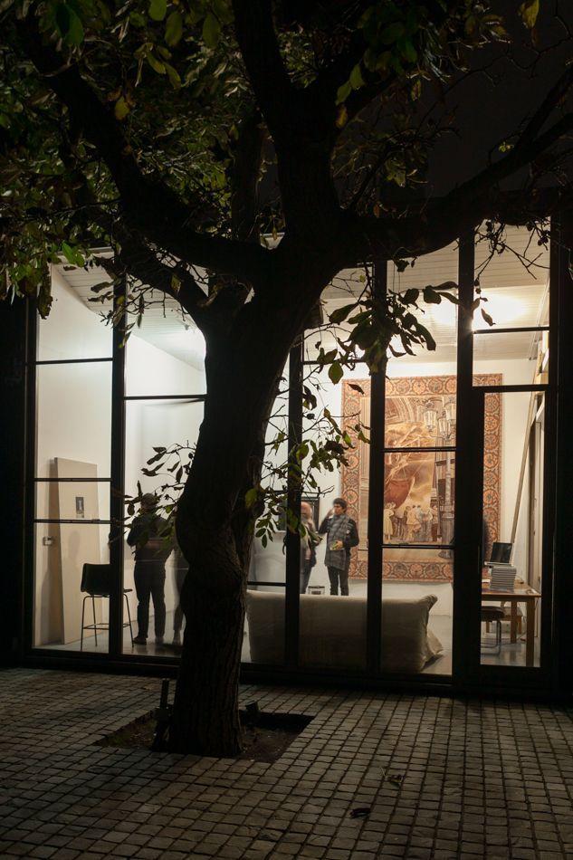 Vista del taller de Josefina Guilisasti. Foto: Sebastián Mejía