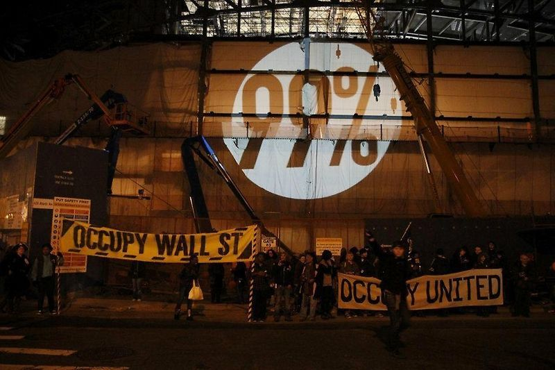 """""""Rebelión contra la deuda estudiantil"""", del The Illuminator. Cortesía: U. de Chile"""