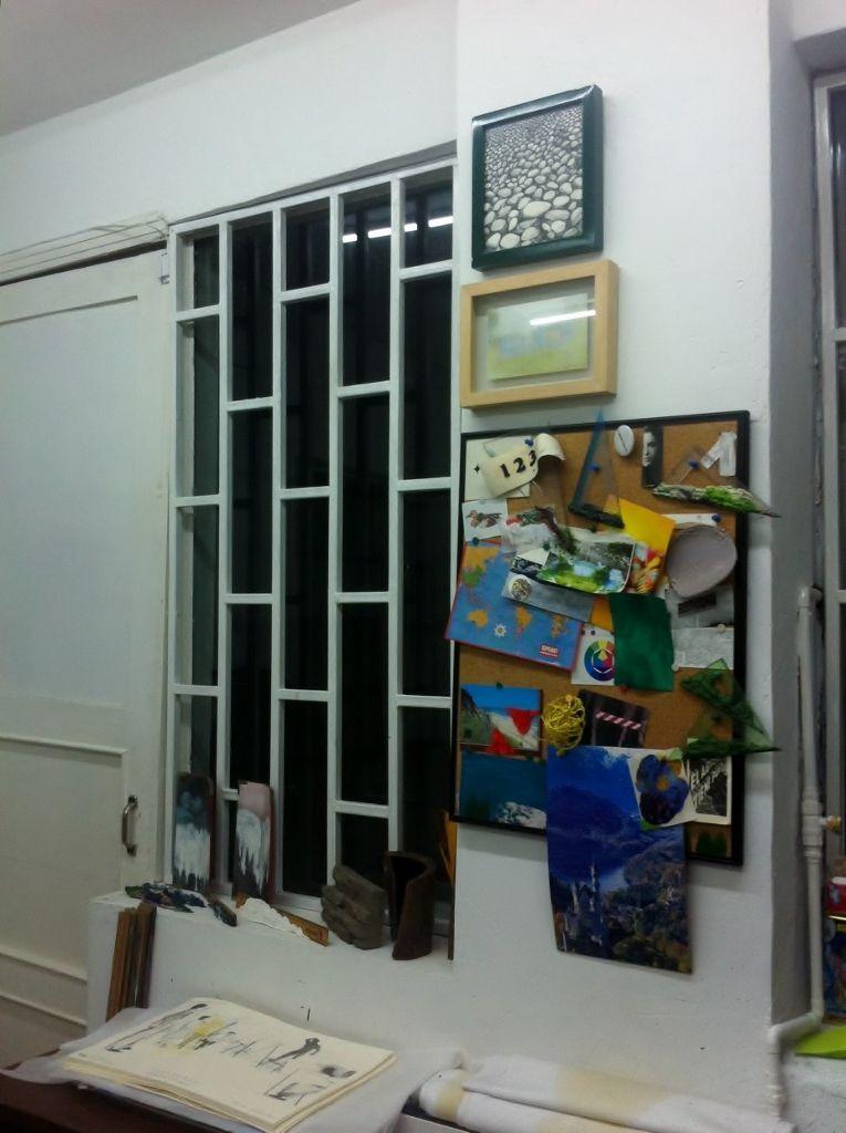 Vista del taller de Nicolás Gómez. Foto: Julia Roldán