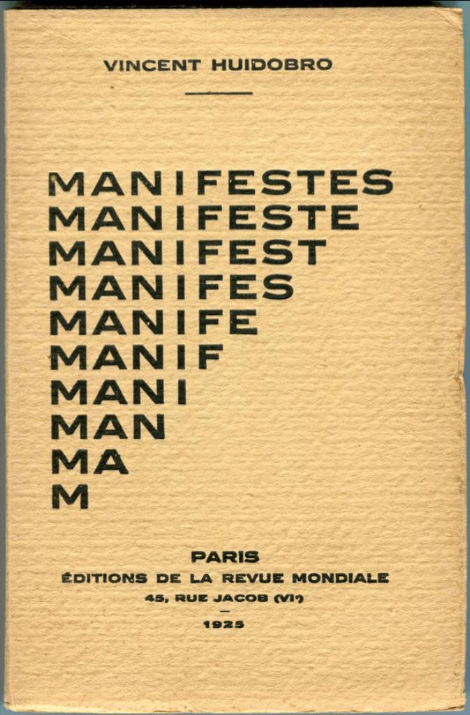 Manifiesto por Vicente Huidobro. Foto cortesía MAC, 2016