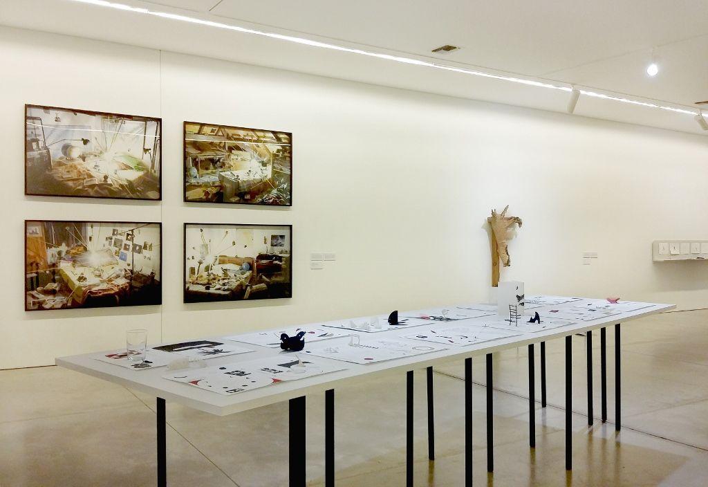 """Vista de la exposición """"De lo espiritual en el arte. Obertura"""", Museo de Arte Moderno de Medellín, 2016. Fotografía: Úrsula Ochoa"""
