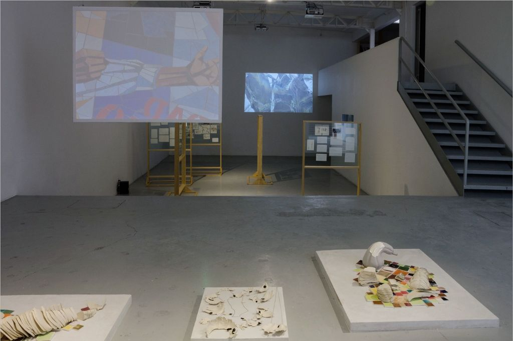 Un acto antes de un concepto. Noé Martínez. Vista de la instalación. Parque Galería, Ciudad de México, 2016. Foto: Daniela Uribe.