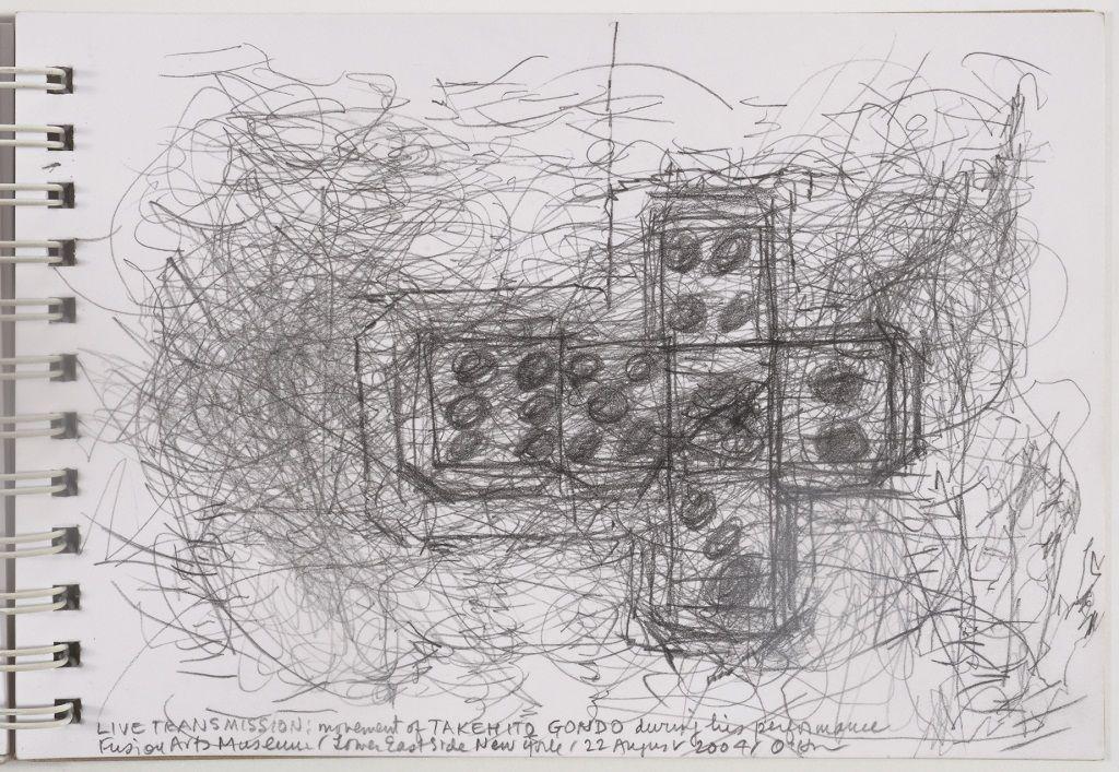 Morgan O'Hara. TRANSMISSION, movimiento de las manos de TAKEHITO GONDO durante su performance en Fusion Arts Museum, Lower Eastside, New York, 22 de Agosto de 2004. Imagen cortesía de la artista.