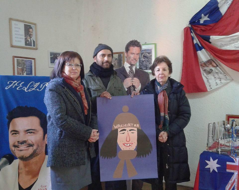 Enrique Flores. Buscando Chilenos. Parte del recorrido por diversos lugares de Chile, 2016. Foto cortesía del artista.