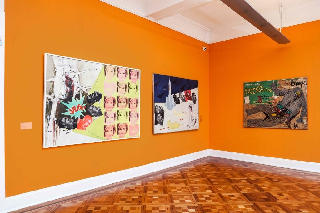 Vista de la exposición La Emergencia del Pop, en el Museo de la Solidaridad Salvador Allende, Santiago de Chile, 2016. Cortesía: MSSA