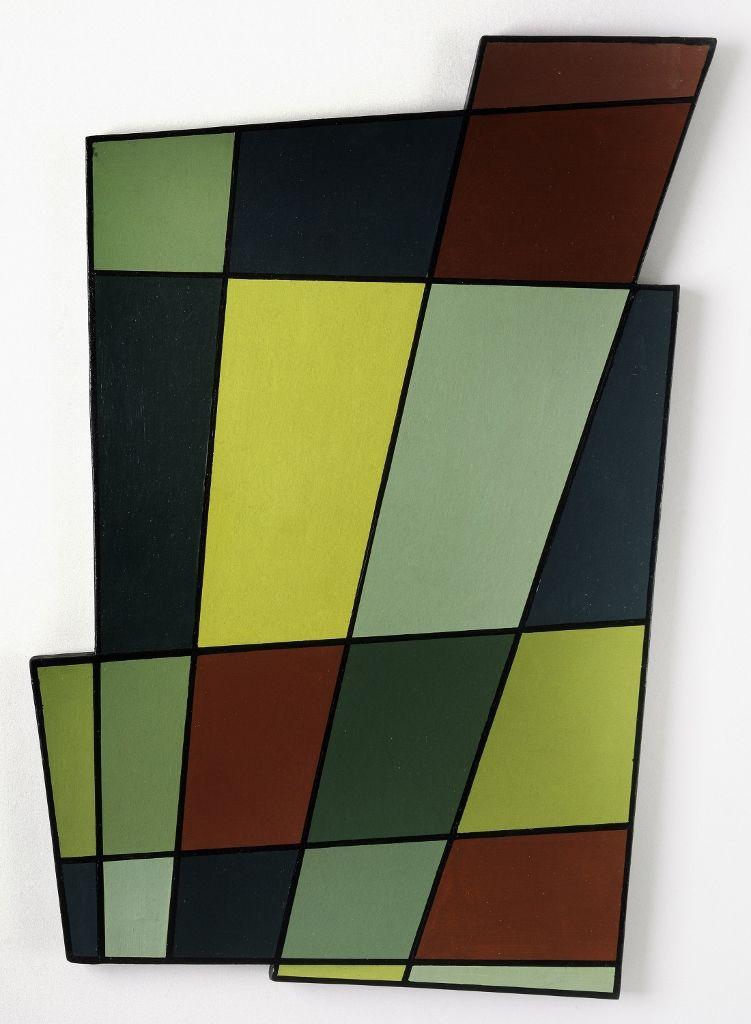 Juan Melé, Irregular Frame no. 2, 1946, óleo sobre tablón, 71.1 × 50.2 × 2.5 cm. Cortesía: MoMA/CPPC