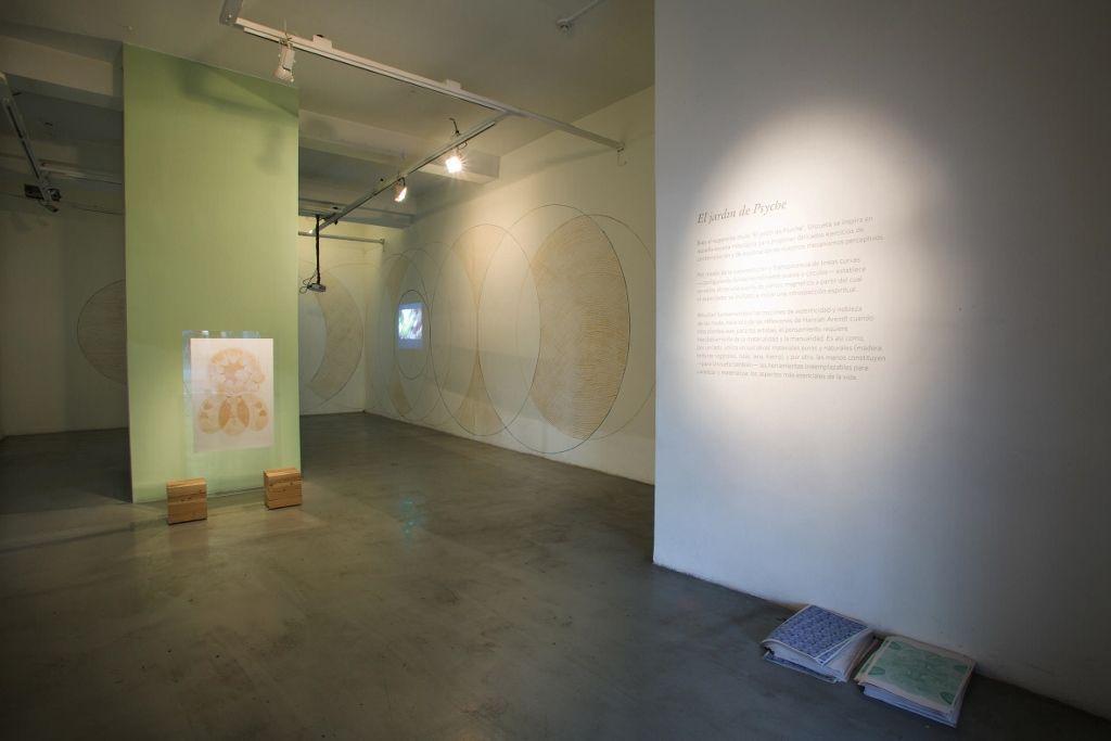 Johanna Unzueta, El jardín de Psyche, en Galería Gabriela Mistral. Foto: Rodrigo Maulen