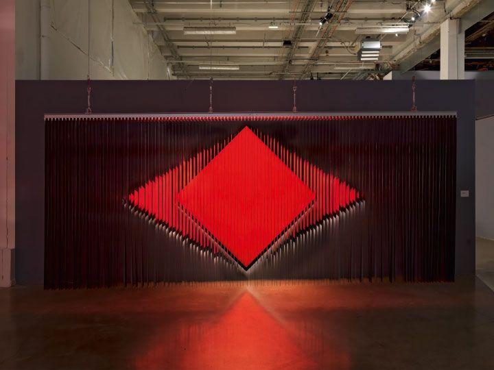 Vista de la exposición Julio Le Parc: Form into Action, en el Pérez Art Museum Miami (PAMM), Miami, 2016. Cortesía del museo