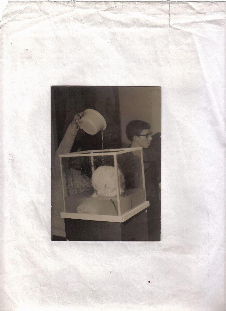 Antonio Caro, Cabeza de Lleras, XXI Salón Nacional de Artistas de Colombia, 1970. Foto: Jaime Moncada. Cortesía: Galería Casas Riegner, Bogotá