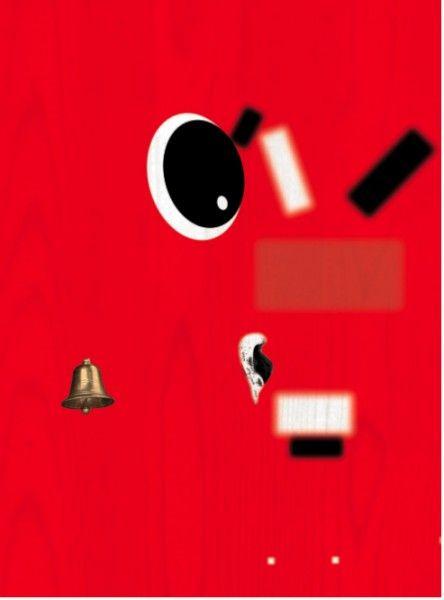 Meyer Vaisman, Surreal Bell, 2011, acrílico sobre madera, 44 x 59 pulgadas. Cortesía KaBe Contemporary