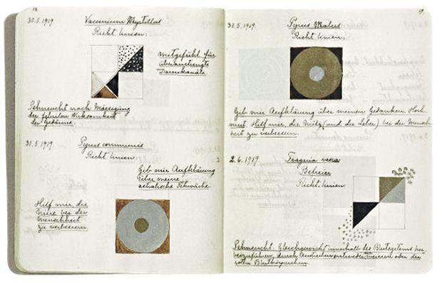 Hilma af Klint, cuaderno de apuntes y bocetos, 1862-1944