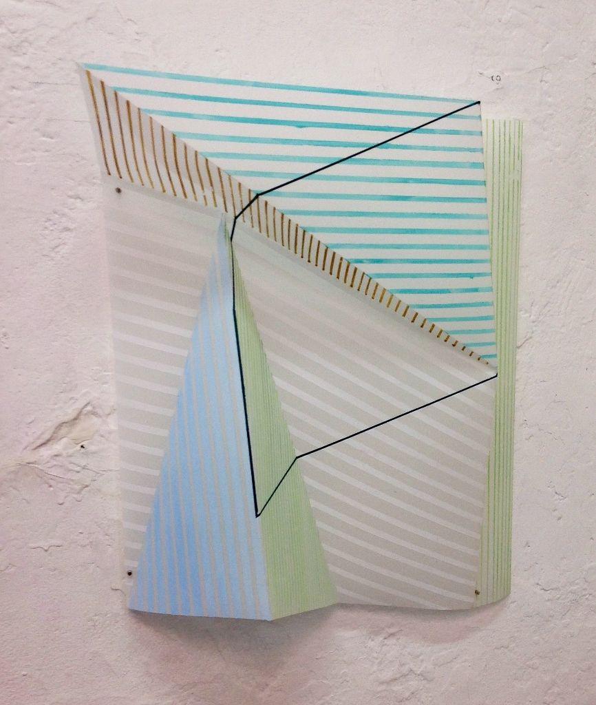 Francisca Palomino (Beca Nacional). Trabajo en proceso (pintura sobre papel vegetal), 2016. Cortesía: Taller Bloc